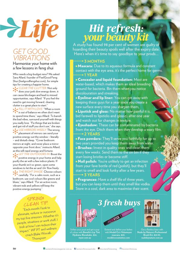Feel Good Group in Women's Fitness Magazine - September 2014