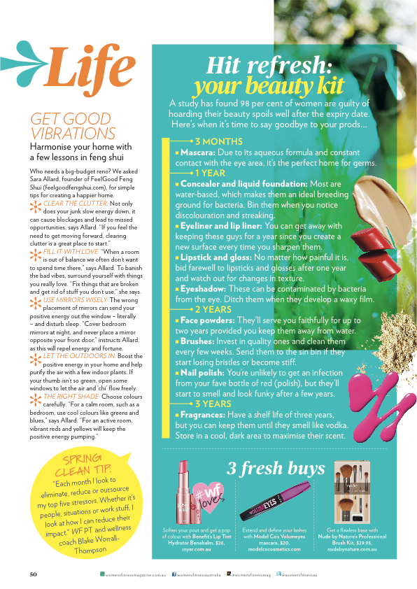 Feel Good Group in Women's Fitness Magazine - September 2014